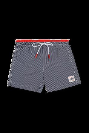 גילאי 10- 16 מכנסי גלישה בכחול אדום ולבן FILA