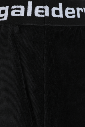 Stretch Corduroy Shorts in Black ALEXANDER WANG