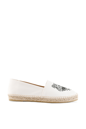 Canvas Tiger espadrilles in Off White KENZO