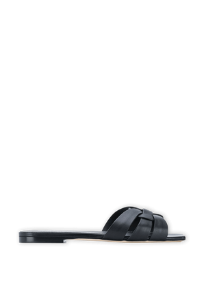 Tribute Mules In Smooth Leather SAINT LAURENT