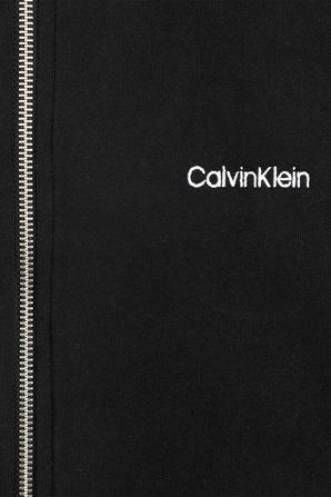 Calvin Klein Logo Full Zip Hoodie In Black CALVIN KLEIN