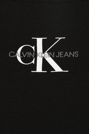 טופ אוף שולדרס עם שרוולים ארוכים בצבע שחור CALVIN KLEIN