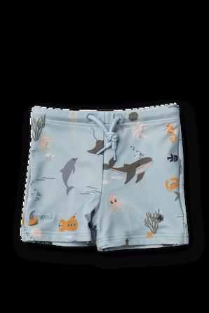 גילאי 3-24 חודשים בגד ים עם הדפסי חיות בצבע תכלת LIEWOOD