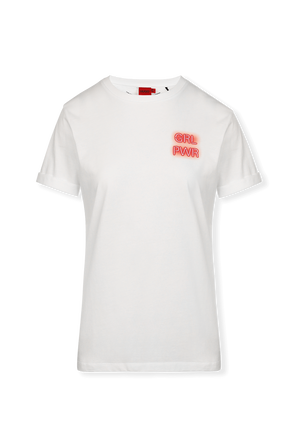 Cotton Jersey White T Shirt With Collection-Themed Print HUGO