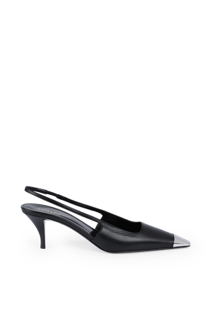 Blade 60 Slingback Pumps in Black SAINT LAURENT