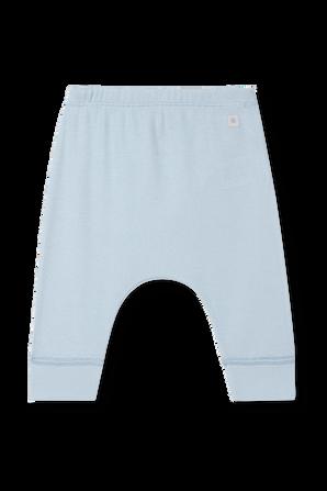 גילאי NB-12 חודשים מכנסי ריב ארוכים בגוון תכלת PETIT BATEAU