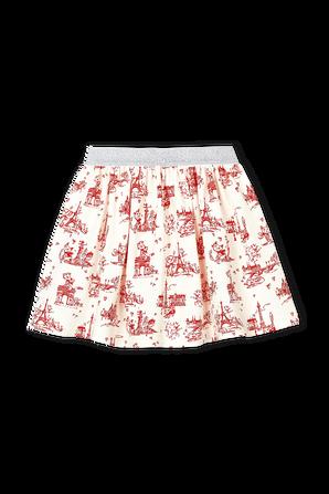 גילאי 6-12 חצאית בהדפס נופי פריז PETIT BATEAU