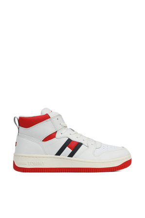 נעלי כדורסל בלבן ואדום TOMMY HILFIGER