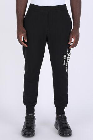 Side Logo Trousers in Black ALEXANDER MCQUEEN