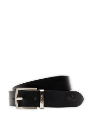 Reversible Leather Belt in Black LACOSTE