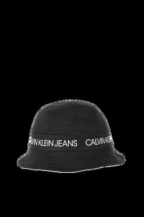 כובע באקט דו צדדי שחור ולבן CALVIN KLEIN