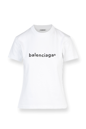 New Copyright Small Fit Tee in White BALENCIAGA