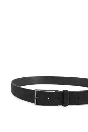 Suede belt in Dark Blue BOSS