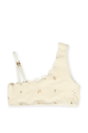 גילאי 6-12 בגד ים ביקיני עם הדפס פרחים מוזהב CHLOE KIDS