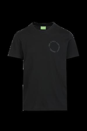 Logo T-Shirt in black DIESEL