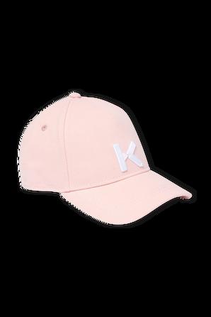 כובע בייסבול ורוד עם לוגו KENZO KIDS