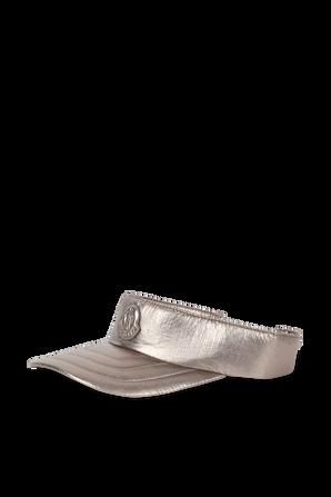 Logo Visor Hat in Metalic Grey MONCLER