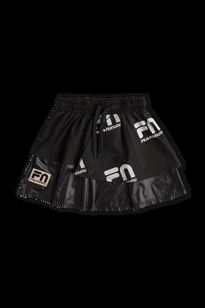 Fila x Nununu Ages 1-5 Layered Skirt in Black FILA NUNUNU