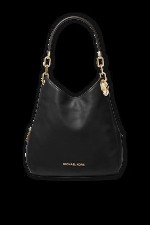 Lillie Pebbled Leather Shoulder Bag In Black MICHAEL KORS
