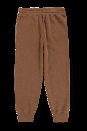 גילאי 3-14 מכנסי קשמיר עם דובי רקום בגוון חום BURBERRY