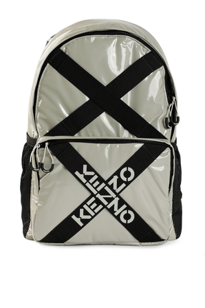 K Cross Backpack in Grey KENZO