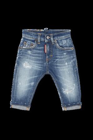 גילאי 3-36 חודשים מכנסי גינס בשטיפה כחולה קלאסית DSQUARED2 KIDS