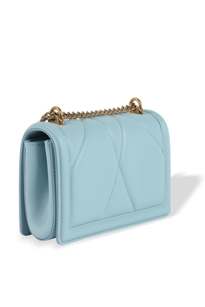 Small Devotion Crossbody Bag in Azure Quilted Nappa Leather DOLCE & GABBANA