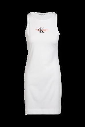 Urban Logo Tank Dress in White CALVIN KLEIN