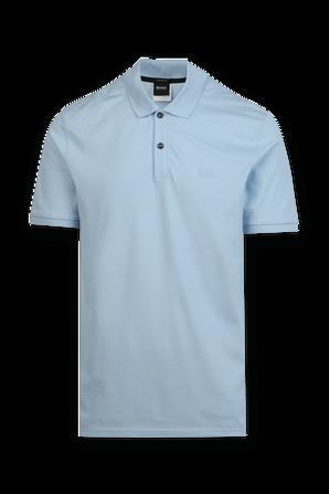 Pallas Classic Polo Shirt in Blue BOSS