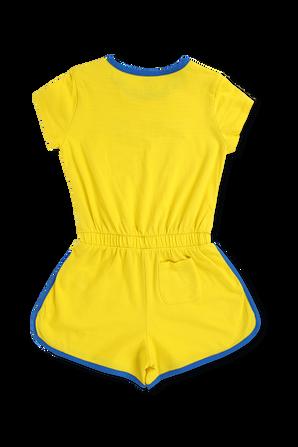 גילאי 2-4 אוברול קצר צהוב וכחול POLO RALPH LAUREN KIDS