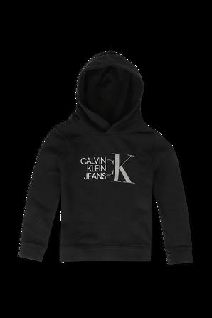 גילאי 4-14 סווטשירט לוגו בשחור CALVIN KLEIN