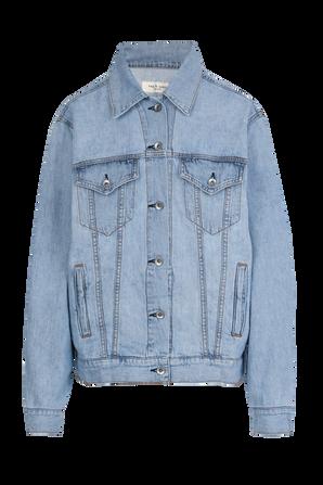 Oversized Denim Jacket in Mid Wash RAG & BONE