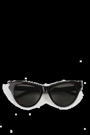 Cat-Eye Sunglasses in Light Havana SAINT LAURENT