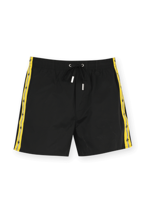 Swim Shorts in Black and Yellow DSQUARED2