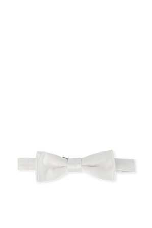 Bow Tie in White With Embroidery BOSS
