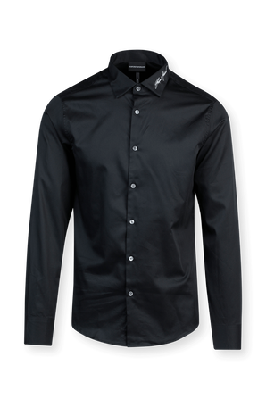 Timeless Buttoned Down Shirt in Black EMPORIO ARMANI
