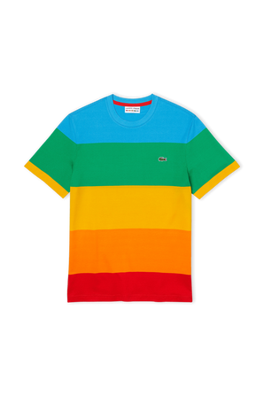 Lacoste Patch Cotton T-shirt in Black LACOSTE