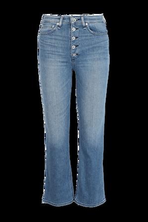 Nina Flare High Rise Jeans in Mid Wash RAG & BONE