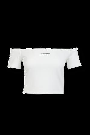 Off- Shoulder Top in White CALVIN KLEIN