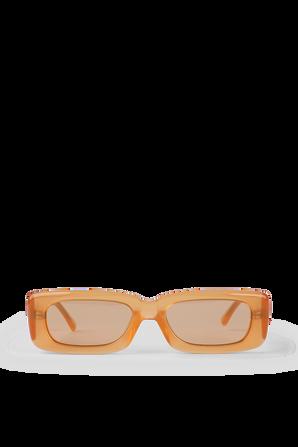 Mini Mafra Sunglasses in Orange THE ATTICO