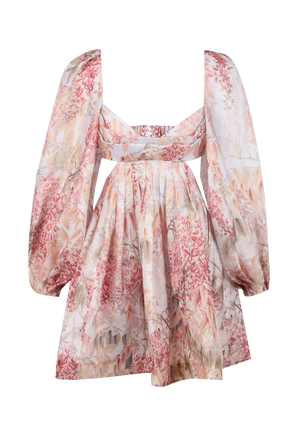 Botanica Bralette Mini Dress in Milettia Floral ZIMMERMANN