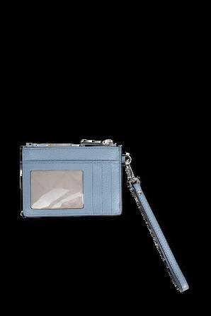 ארנק קטן מעור עם ידית אחיזה בצבע כחול MICHAEL KORS