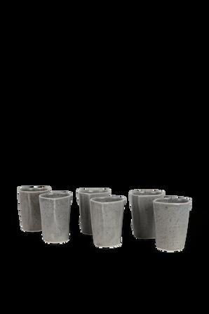 Cortado Set - 6 Espresso Cups in Grey MICHAL GELBARD