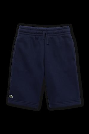 גילאי 2-12 מכנסיים קצרים בנייבי עם פאצ לוגו קטן LACOSTE KIDS