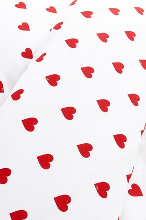סט מצעים מכותנה בהדפס לבבות אדומים PETIT BATEAU