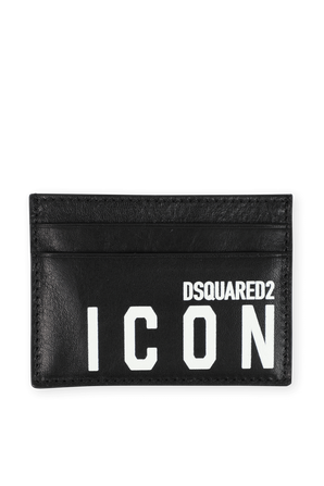 Icon Card Holder in Black DSQUARED2