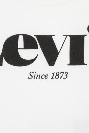 גילאי 3-9 חודשים חולצת טי לוגו עם שרוולים ארוכים בצבע לבן LEVI`S KIDS