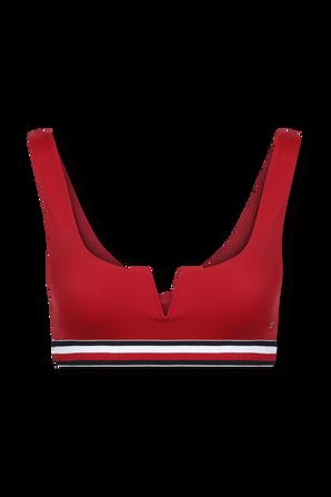 Ribbed Bikini Bralette In Red TOMMY HILFIGER