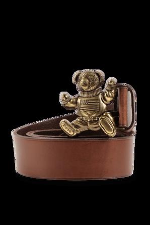 Bear Belt in Brown Leather POLO RALPH LAUREN