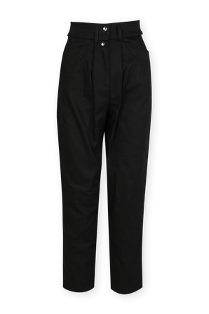 Atrak straight Leg cotton Trousers In Black IRO